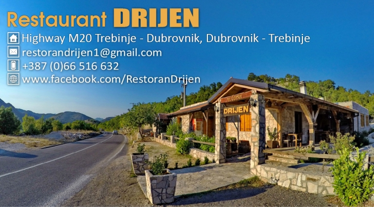 Restaurant Drijen bussines card