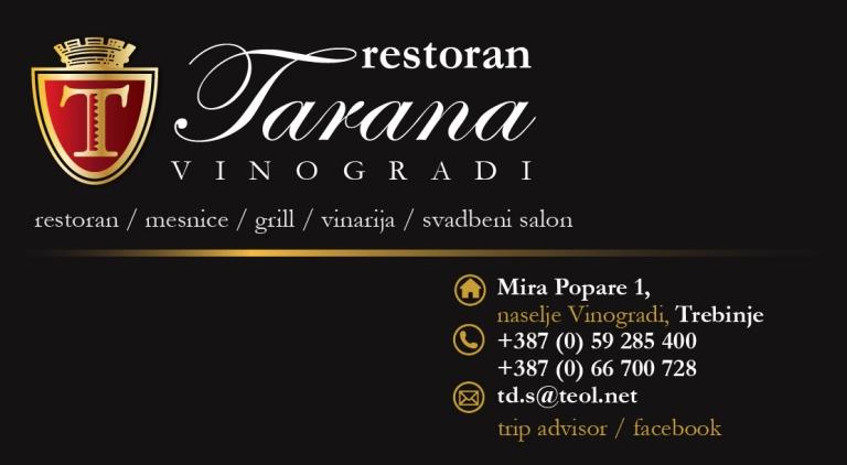 Restoran Tarana Vinogradi Trebinje